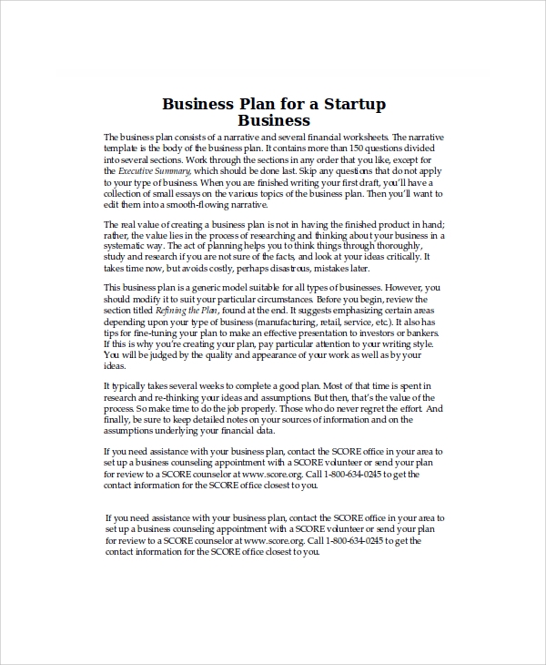 Sample Business Plan - 8+ Examples In Word, Pdf
