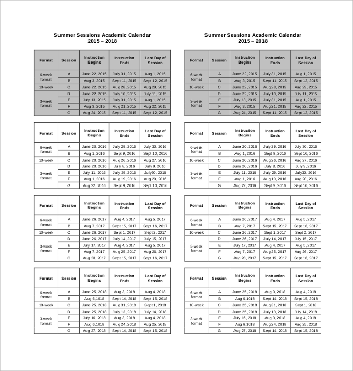 Sample Printable Calendar - 8+ Examples In Pdf, Word