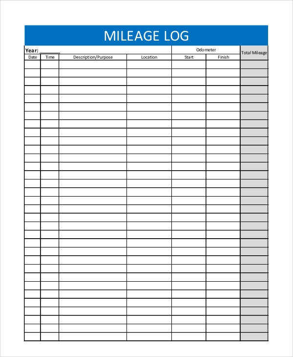 free 7  sample mileage tracker templates in pdf