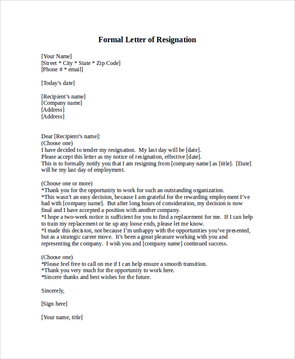 Formal-Letter-of-Resignation Official Letter Template Microsoft Word on free christmas, document recommendation,