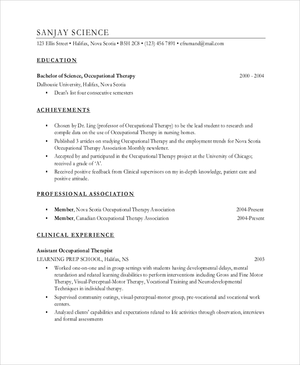 resume example 8 samples in word pdf