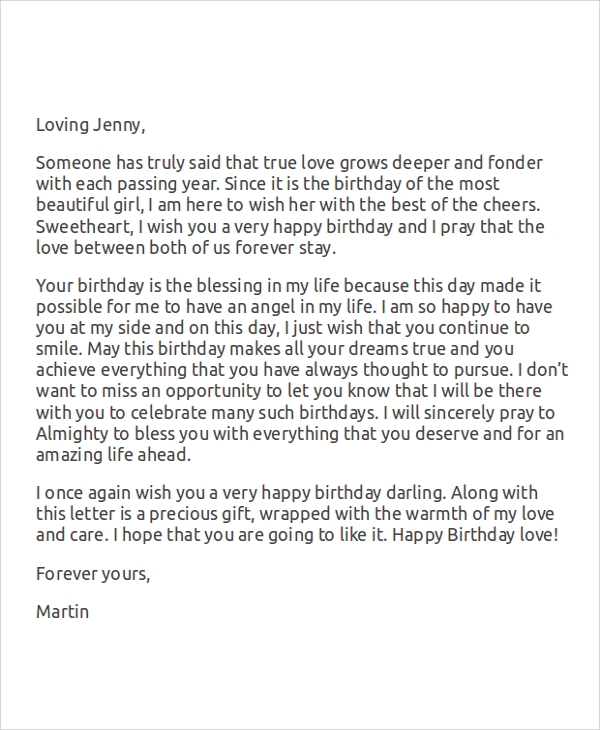 Love Letter For Her Birthday