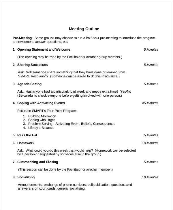 Meeting-Outline-Sample Best Application Letter Ever on sales cover, us engineer cover, job cover, resume cover, horticultural cover, manager resignation, professional resignation, book query, sample cover,