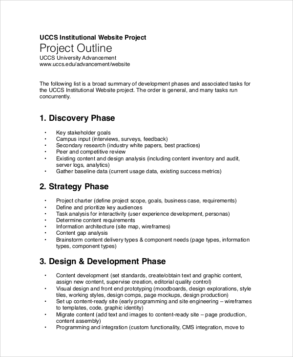 project outline sample