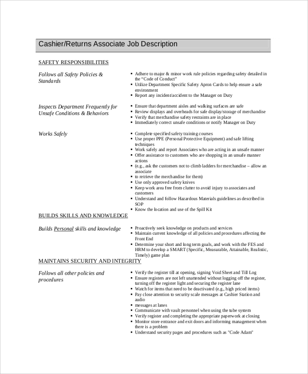Sample Resume For Cashier In Gas Station Cover Letters And