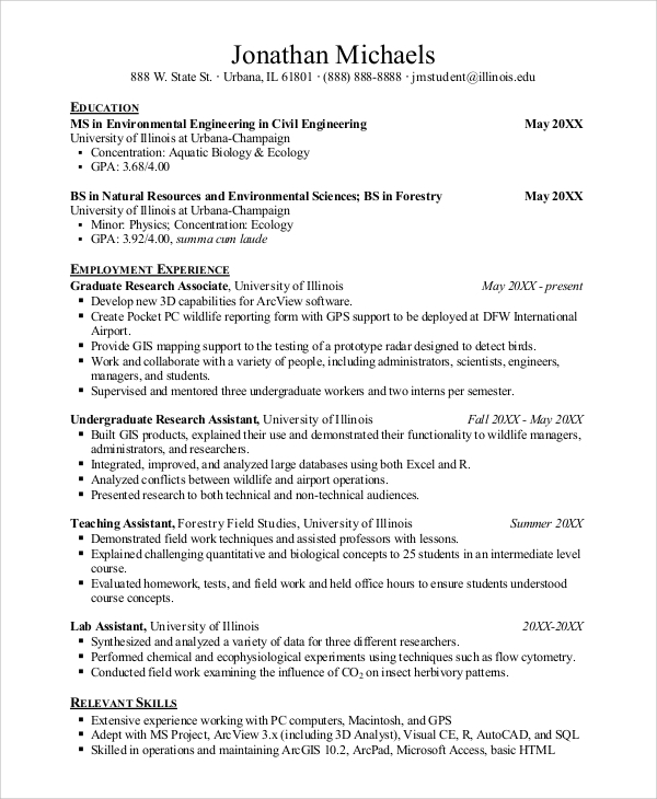 Sample Job Resume - 8+ Examples In Word, Pdf