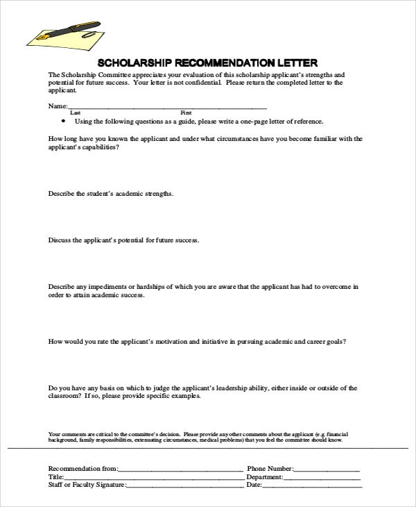 Sample Letter Of Recommendation - 7+ Examples In Word, Pdf