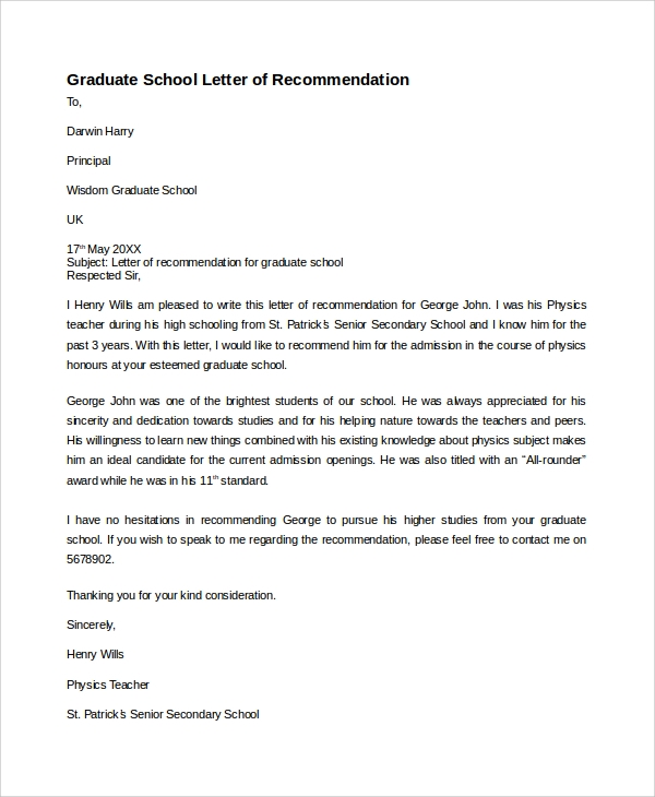 free 8  sample recommendation letter templates in pdf