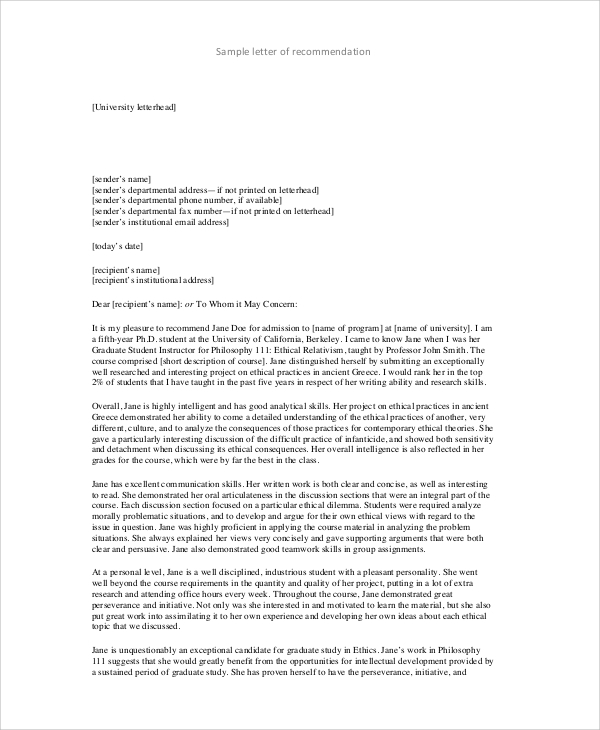 Formal Letter Format   Samples  Examples In Word Pdf