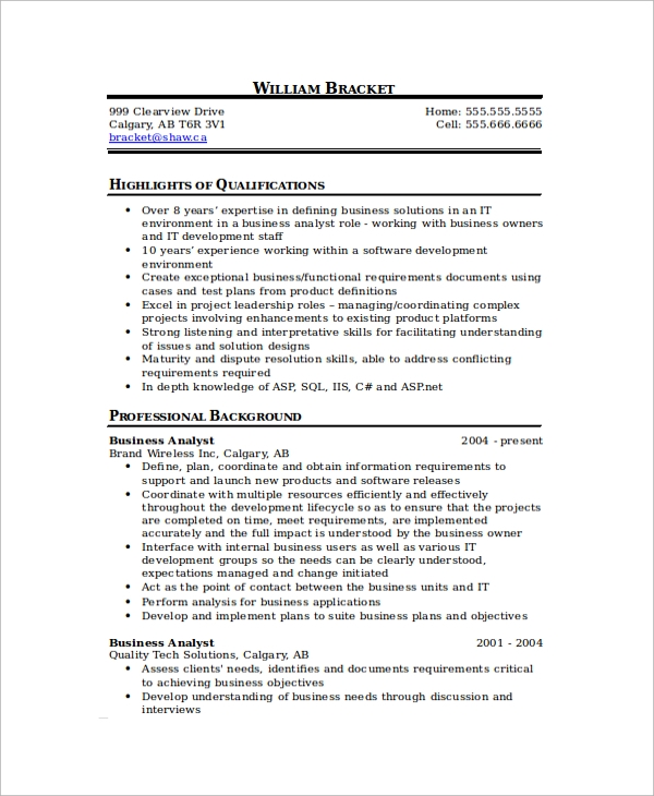 business analyst resume format1