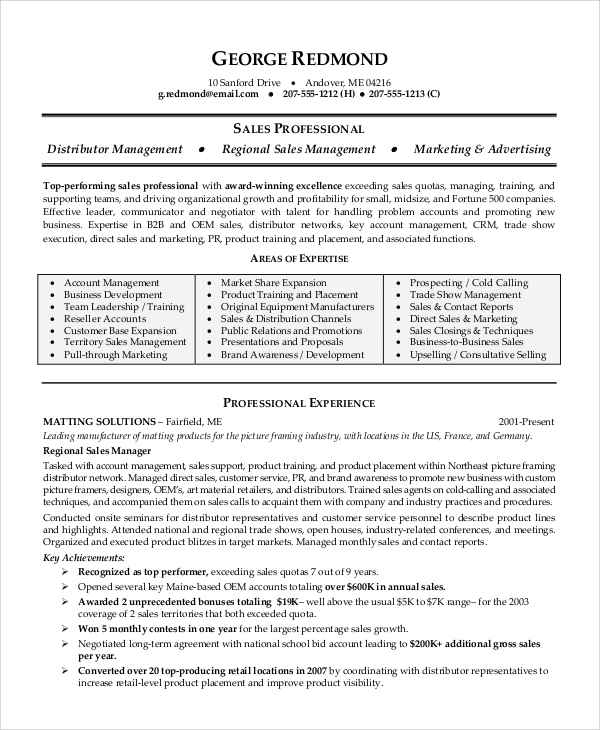 free 8  sample sales associate resume templates in pdf