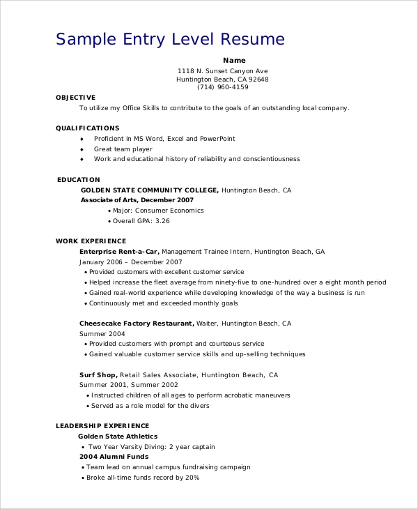 entry level resume sles 28 images 5 free sales resume