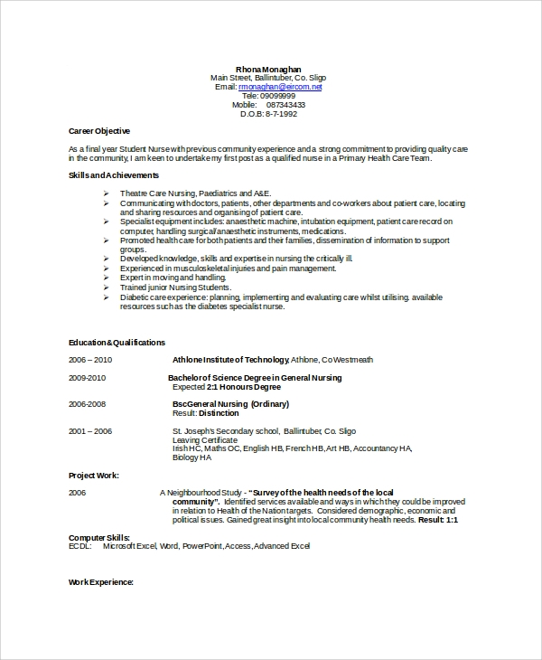 8+ Resume Samples In Word