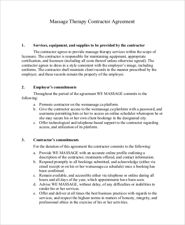 8 Sample Independent Contractor Agreements