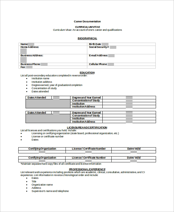 Sample Resume Format 8 Examples In Word Pdf