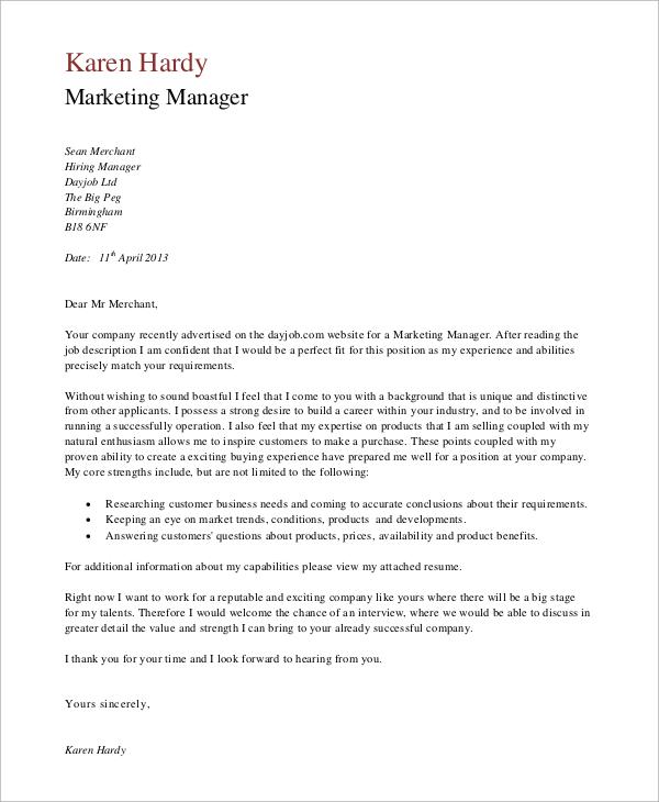Job Application Letter Yours Faithfully