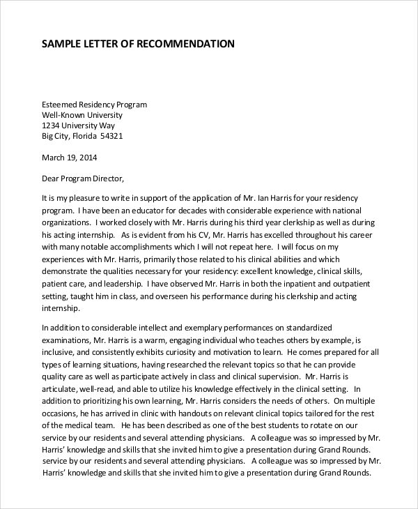 reference letter university professional recommendation letter example