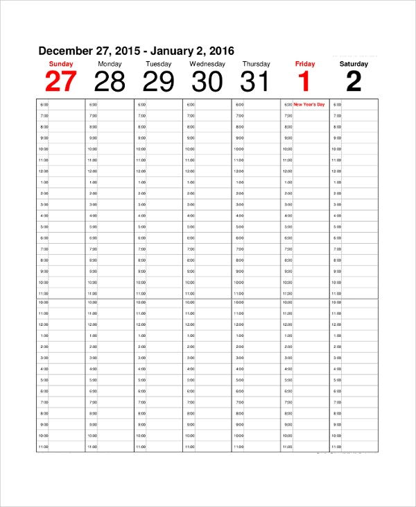 Printable Calendar Sample   Examples In Pdf Word Excel