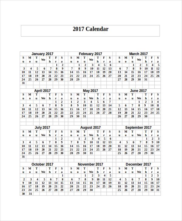 printable yearly calendar1