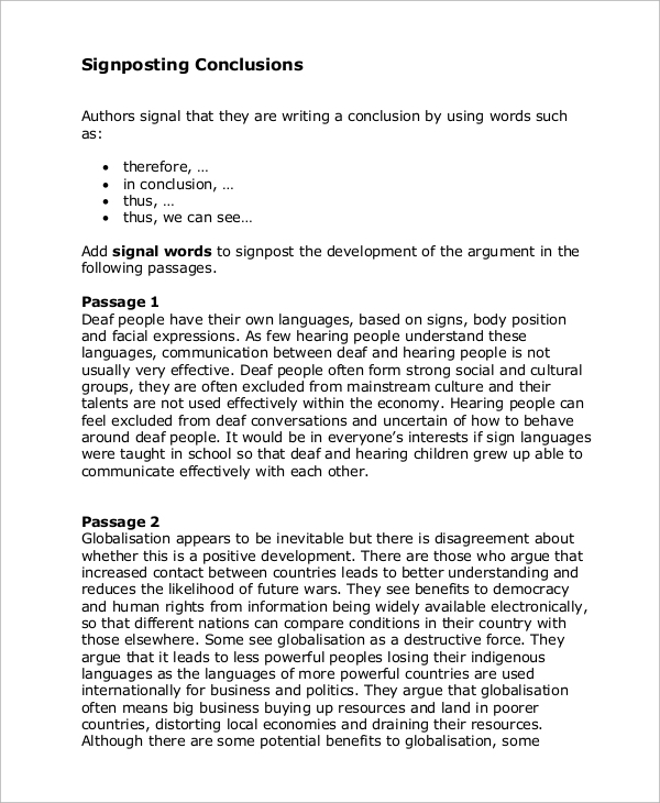 essay conclusion example