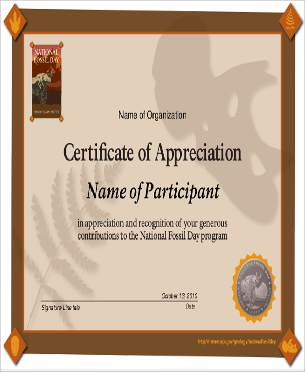 Sample Certificate Of Appreciation - 9+ Examples In Word, Pdf