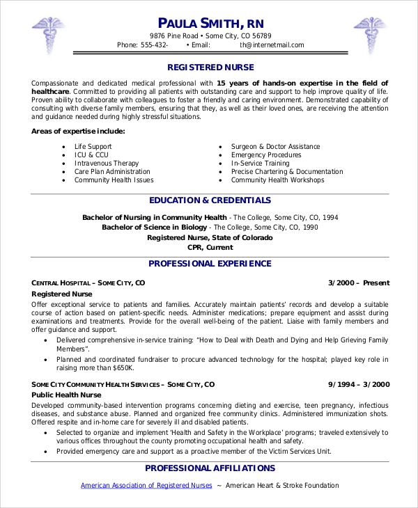 Sample Of Nursing Resume: Sample Nursing Resume