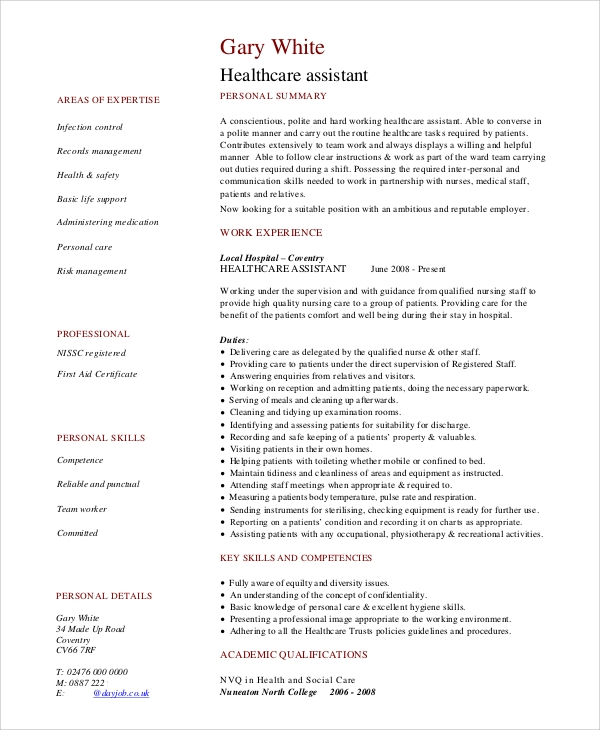 sample nursing resume 9 examples in pdf