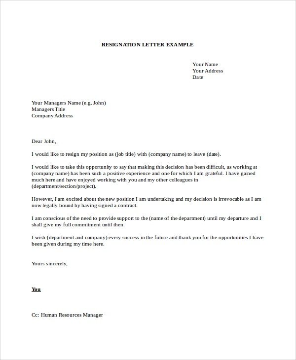 Resignation Letter Whilst On Maternity Leave Uk - Cover Letter