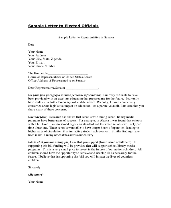 professional official letter format