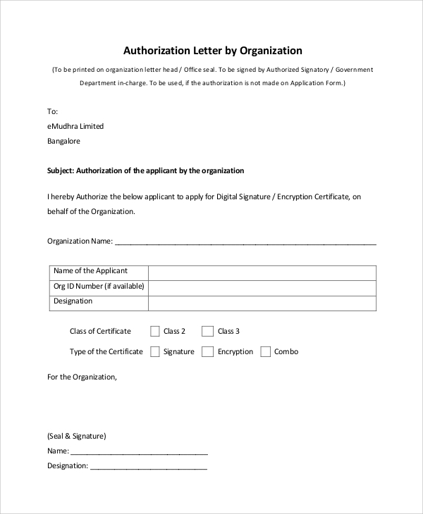 Sample Authorization Letter 9 Examples in PDF – Authorization Letters