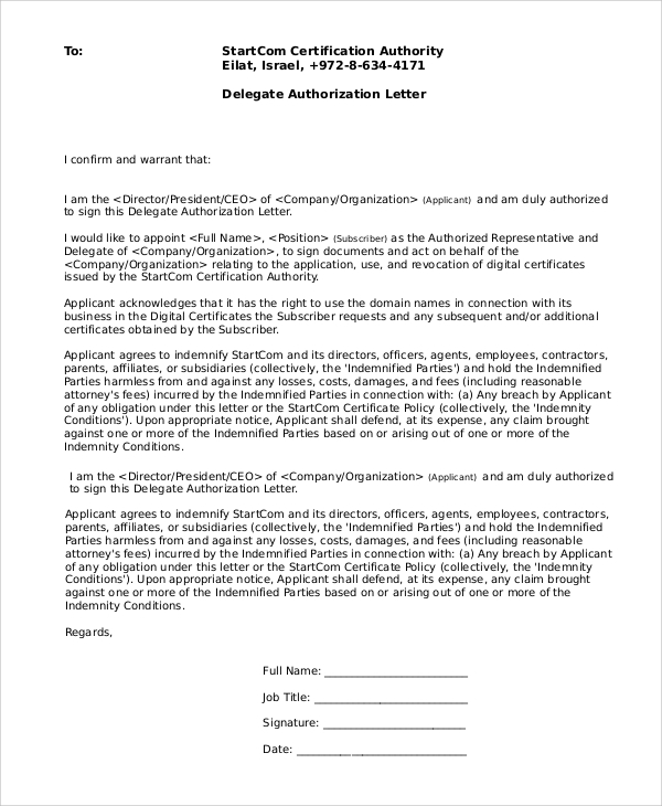 100 11 Authorization Letter To Release