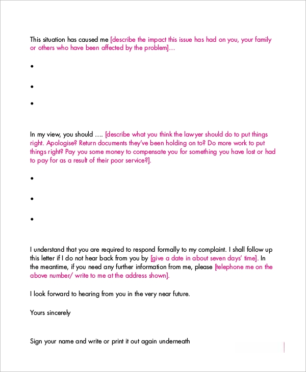 sample formal letter 8 examples in word pdf