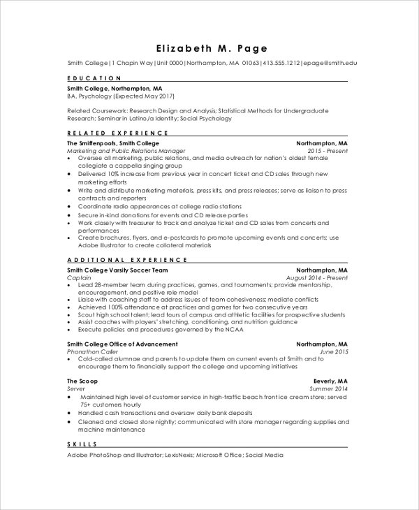 Example Of A Student Resume | Resume Examples And Free Resume Builder
