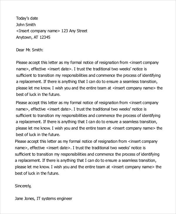 resignation letter sample 2 weeks notice3