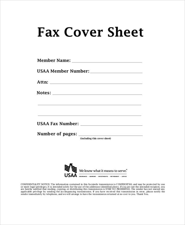 Printable Fax Cover Sheet Sample  Examples In Pdf Word