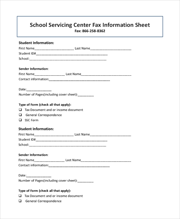 generic fax cover sheet printable