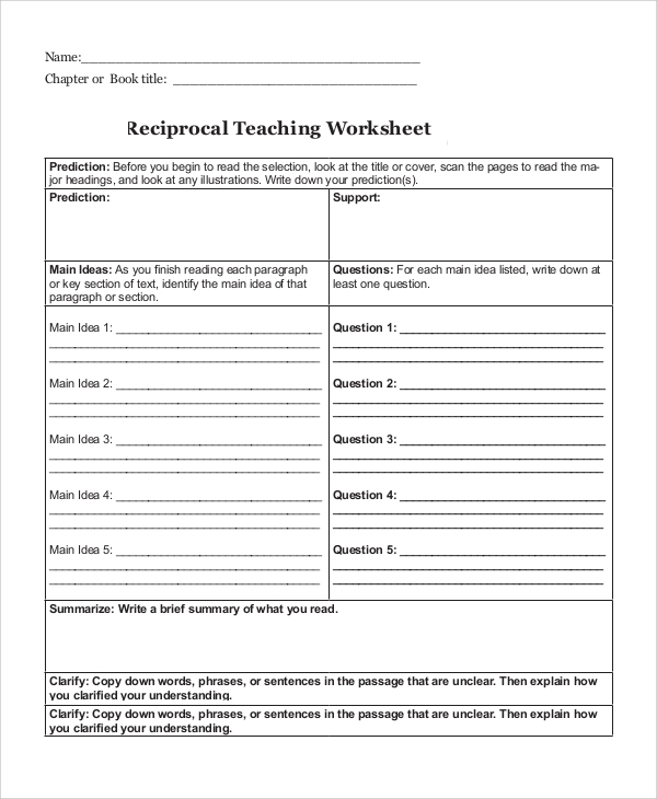 printable teaching worksheet