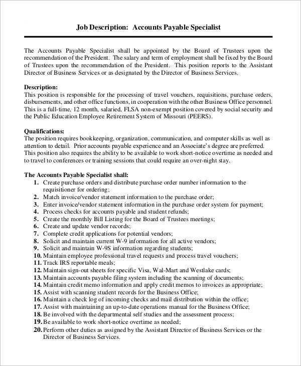 Captivating Accounting Clerk Job Description For Resume .