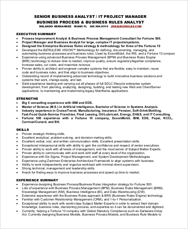 Sample Project Manager Resume 8 Examples In Word Pdf