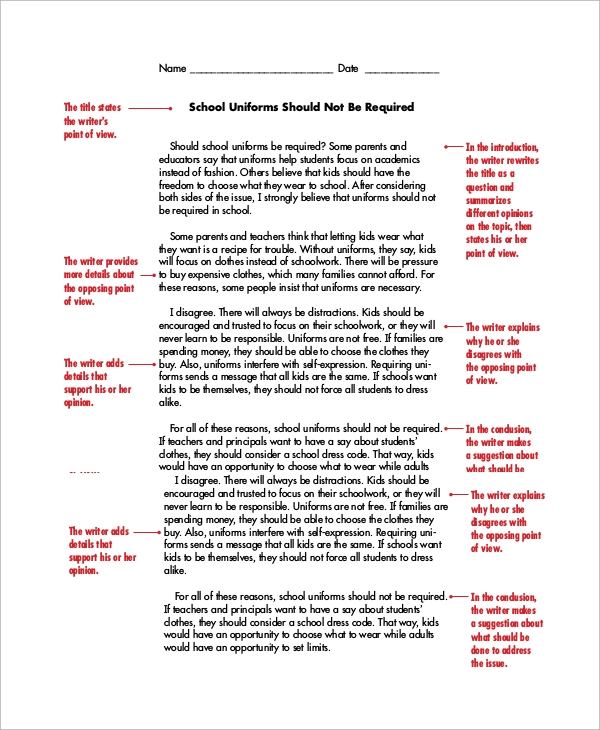 example of a persuasive writing Persuasive essays are a great way to encourage the reader to look at a certain  topic in a different light after reading your essay, you want the reader to think.