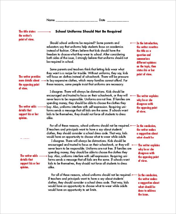 Persuasive essay example 8 samples in word pdf