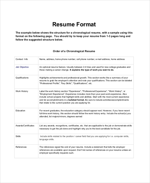 sales resume sample format
