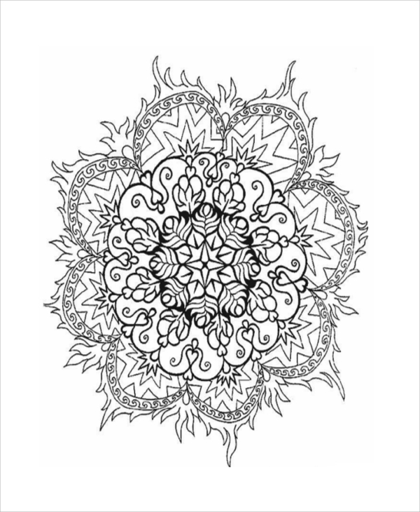 printable abstract coloring page for adult