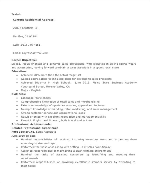retail sales resume