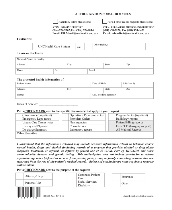 Sample release of information form 9 examples in word pdf release of medical information form thecheapjerseys Image collections