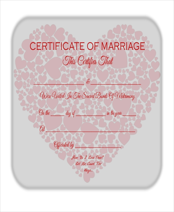 printable marriage certificate1