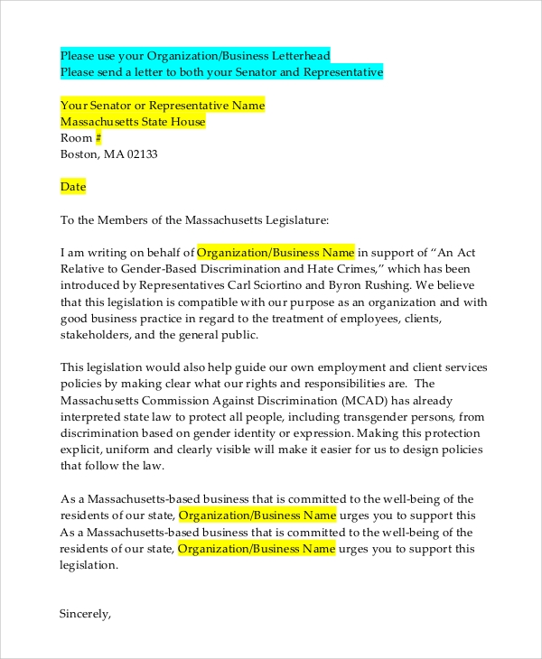 Letterhead Example   Samples In Pdf