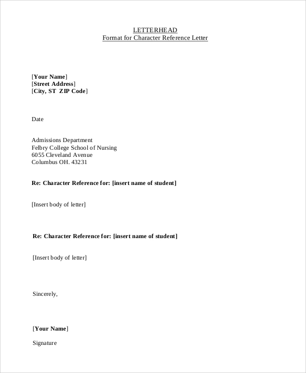 Letterhead example 9 samples in word pdf example letterhead format thecheapjerseys Choice Image