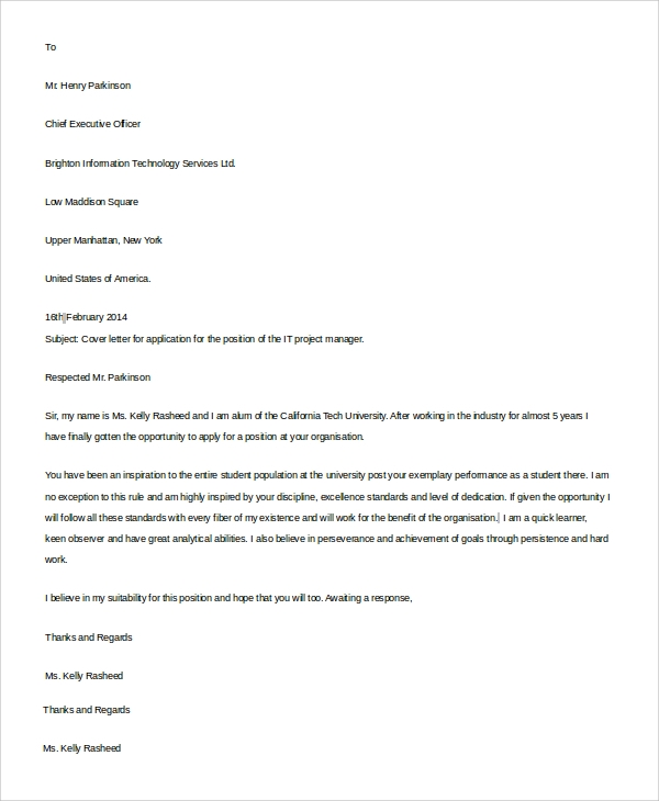 it resume cover letter example