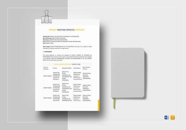 annual meeting minutes template1